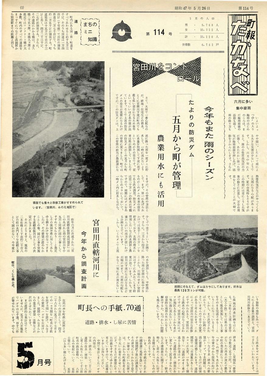 高鍋町広報 No.114 1972年5月号の表紙画像