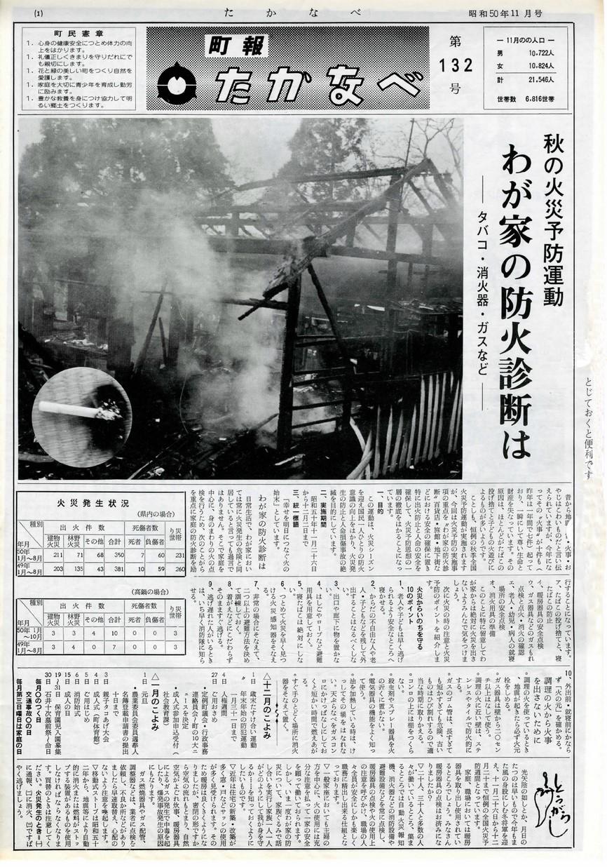 高鍋町広報 No.132 1974年11月号の表紙画像