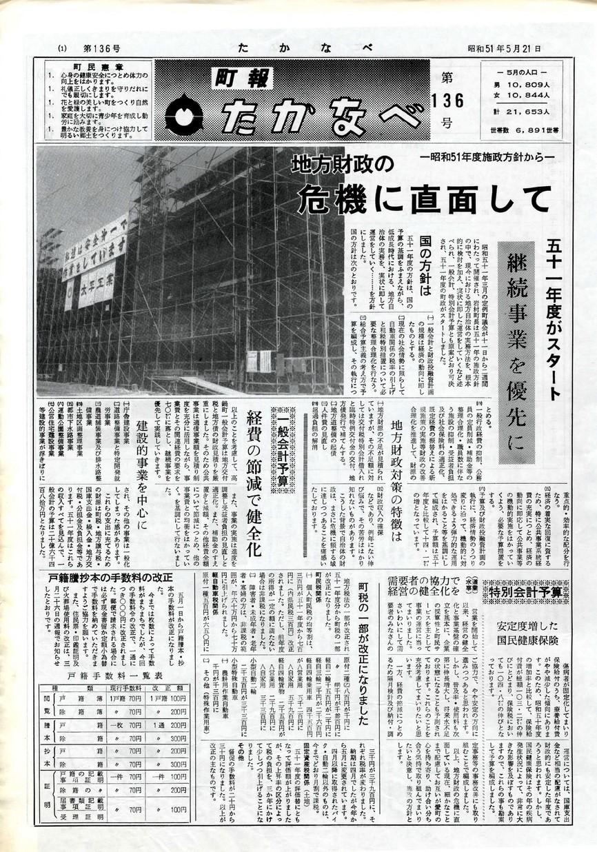 高鍋町広報 No.136 1976年5月号の表紙画像