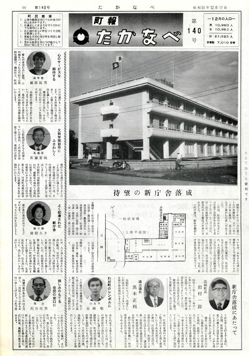 高鍋町広報 No.140 1976年12月号の表紙画像