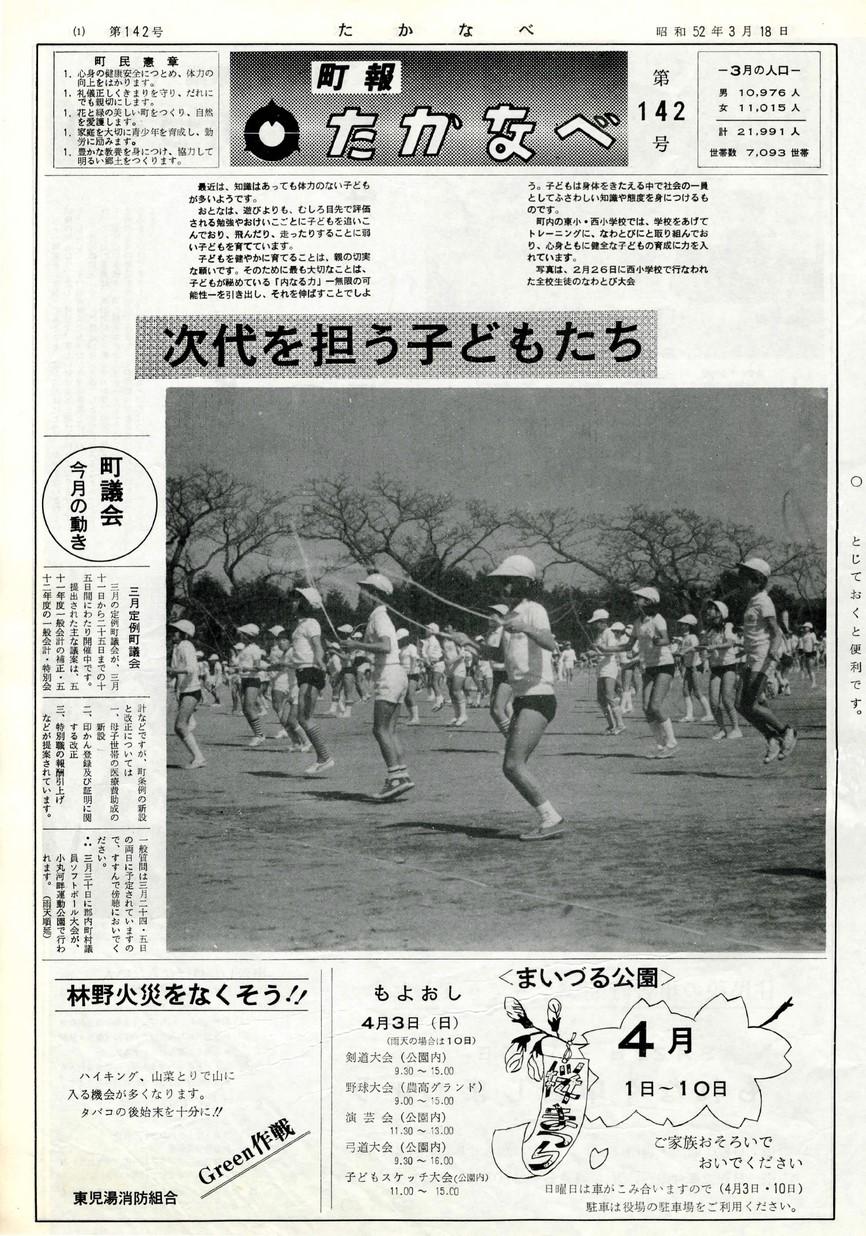 高鍋町広報 No.142 1977年2月号の表紙画像