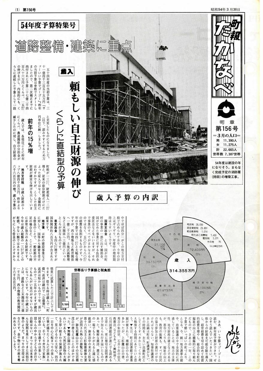 高鍋町広報 No.156 1979年3月号の表紙画像
